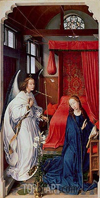 The Annunciation, c.1455 | van der Weyden| Painting Reproduction
