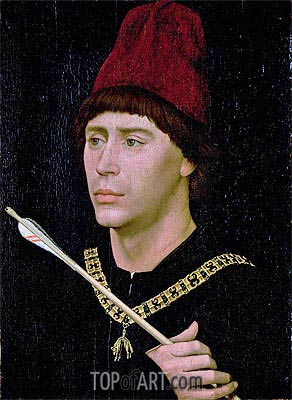 Portrait of Anthony of Burgundy, c.1456 | van der Weyden| Gemälde Reproduktion