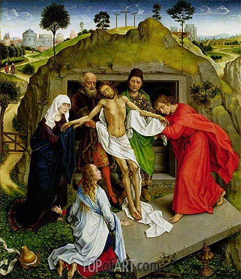 Entombment of Christ, c.1450 | van der Weyden | Painting Reproduction