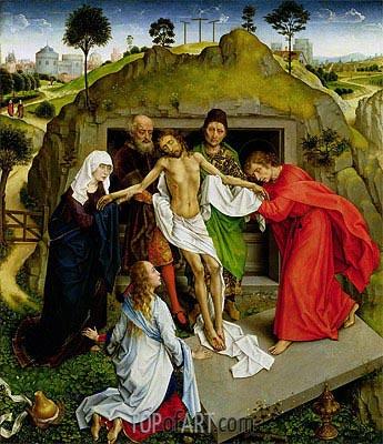 Entombment of Christ, c.1450 | van der Weyden | Gemälde Reproduktion