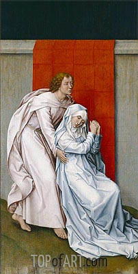 Virgin and Saint John the Evangelist Mourning, c.1450/55 | van der Weyden | Painting Reproduction