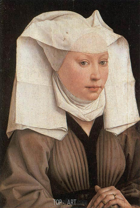 Lady Wearing a Gauze Headdress, c.1435/40 | van der Weyden| Painting Reproduction
