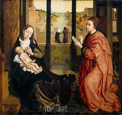 St Luke Drawing the Virgin, undated | van der Weyden | Painting Reproduction