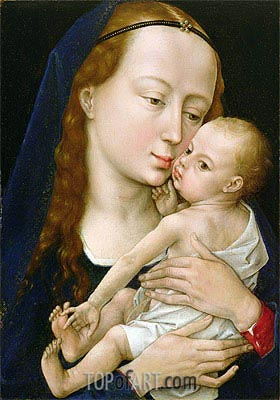 Virgin and Child, a.1454 | van der Weyden| Painting Reproduction