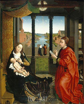 Saint Luke Drawing the Virgin's Portrait, undated | van der Weyden| Painting Reproduction