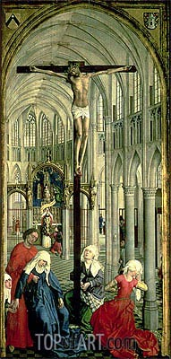 The Altarpiece of the Seven Sacraments, c.1445/50 | van der Weyden| Painting Reproduction