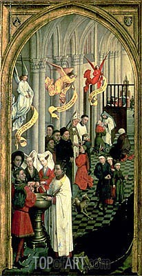 The Altarpiece of the Seven Sacraments, c.1445/50 | van der Weyden | Painting Reproduction