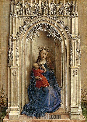 Madonna Enthroned, c.1433 | van der Weyden| Painting Reproduction