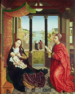 St Luke Drawing the Portrait of the Madonna, c.1450 | van der Weyden | Painting Reproduction