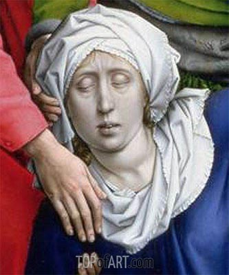 Descent from the Cross (detail), c.1435 | van der Weyden | Painting Reproduction