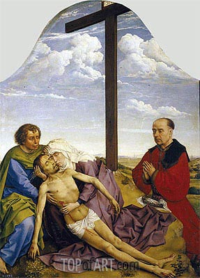 Pieta, c.1450 | van der Weyden| Painting Reproduction