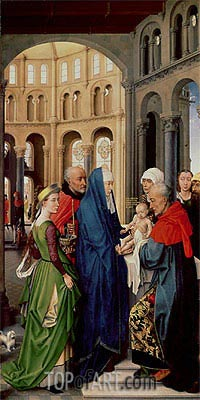 The Presentation in the Temple, c.1455 | van der Weyden | Gemälde Reproduktion