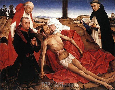 Pieta (Lamentation of Christ), undated | van der Weyden | Painting Reproduction