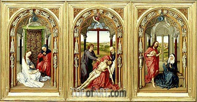Miraflores Altarpiece, c.1440 | van der Weyden| Painting Reproduction