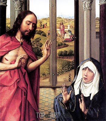 Miraflores Altarpiece (detail), c.1440 | van der Weyden| Painting Reproduction
