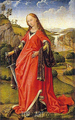 Saint Catherine of Alexandria, c.1440 | van der Weyden | Painting Reproduction