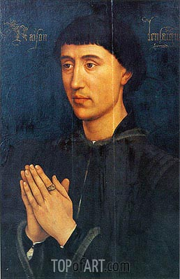 van der Weyden | Portrait of Laurent Froimont, c.1460/75