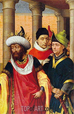 Group of Men, a.1460 | van der Weyden | Painting Reproduction