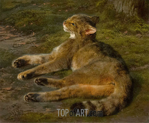 Wild Cat, 1850 | Rosa Bonheur | Painting Reproduction