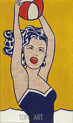 Girl with Ball, 1961 | Roy Lichtenstein | Painting Reproduction