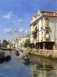Canale della Guerra, Venice, undated by Rubens Santoro | Painting Reproduction