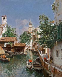 Venice, undated by Rubens Santoro | Painting Reproduction