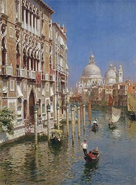 The Grand Canal, Venice, undated by Rubens Santoro | Painting Reproduction