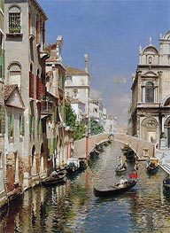 Venetian Canal, undated by Rubens Santoro | Painting Reproduction