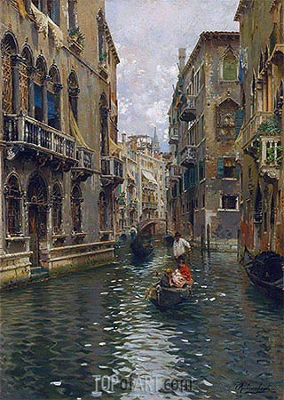 Rubens Santoro | A Family Outing on a Venetian Canal, undated