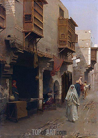 A Street in North Africa, undated | Rubens Santoro| Painting Reproduction