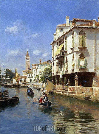Canale della Guerra, Venice, undated | Rubens Santoro| Painting Reproduction
