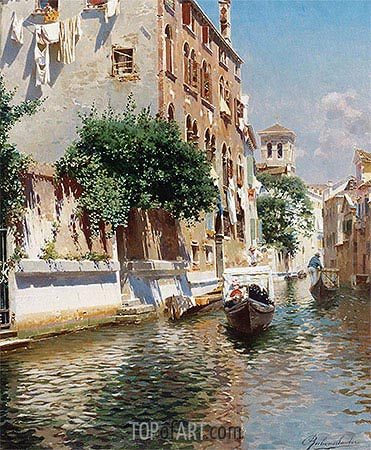 St. Apostoli Canal, Venice, undated | Rubens Santoro| Painting Reproduction