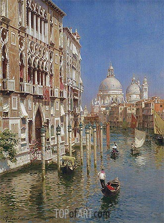 The Grand Canal, Venice, undated | Rubens Santoro| Painting Reproduction