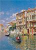 Gondoliers in front of the Palazzo Cavalli-Franchetti, Venice | Rubens Santoro