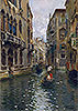 A Family Outing on a Venetian Canal | Rubens Santoro