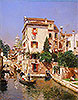 Gondoliers on a Venetian Canal | Rubens Santoro
