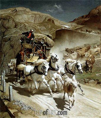 Rudolf Koller | Die Gotthardpost, 1873