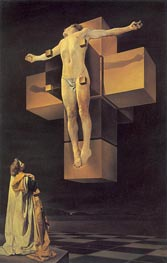 Crucifixion (Corpus Hypercubus), 1954 by Dali | Painting Reproduction