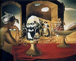 Slave Market with the Disappearing Bust of Voltaire | Dali | Painting Reproduction