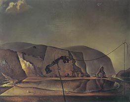 Beach with Telephone | Dali | Painting Reproduction