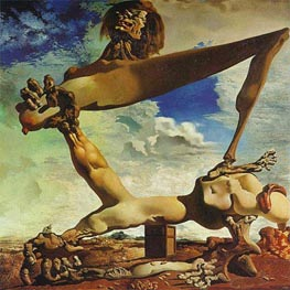 Soft Construction with Boiled Beans - Premonition of Civil War, 1936 by Dali | Painting Reproduction