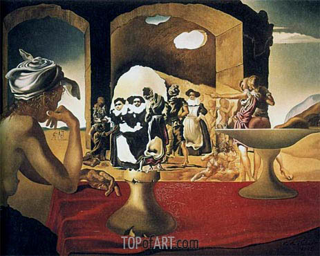 Slave Market with the Disappearing Bust of Voltaire, 1940 | Dali | Gemälde Reproduktion