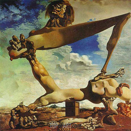 Soft Construction with Boiled Beans - Premonition of Civil War, 1936 | Dali | Painting Reproduction