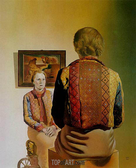 The Angelus of Gala (Portrait of Gala), 1935 | Dali | Painting Reproduction