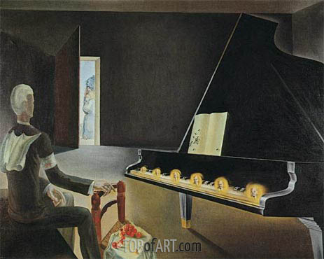 Partial Hallucination. Six Apparitions of Lenin on a Grand Piano, 1931 | Dali | Gemälde Reproduktion