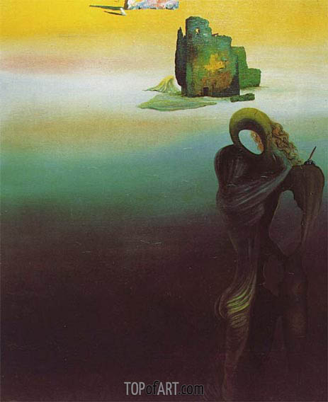 Gradiva Finds the Anthropomorphic Ruins, 1931 | Dali | Painting Reproduction