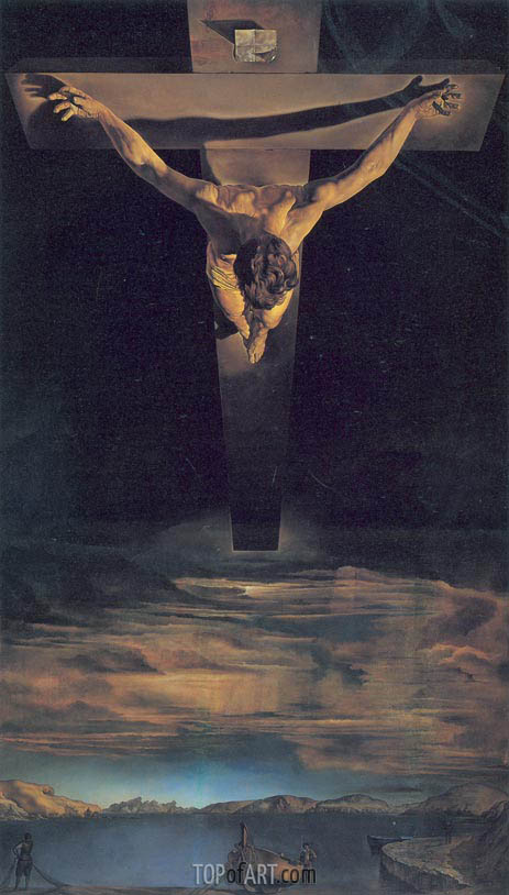 Christ of Saint John of the Cross, 1951 | Dali | Painting Reproduction