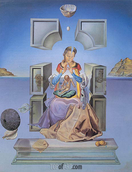 The Madonna of Port Lligat, 1949 | Dali | Gemälde Reproduktion