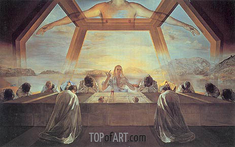 The Sacrament of the Last Supper, 1955 | Dali | Gemälde Reproduktion