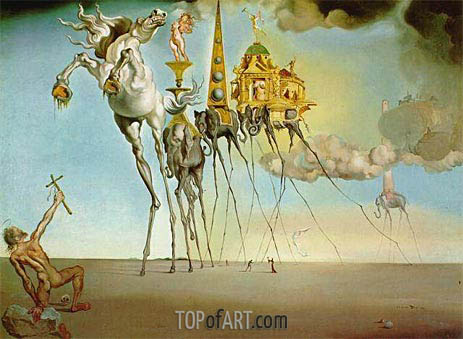 The Temptation of Saint Anthony, 1946 | Dali | Painting Reproduction